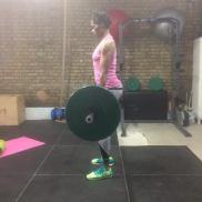 Victoria deadlifting 80kg